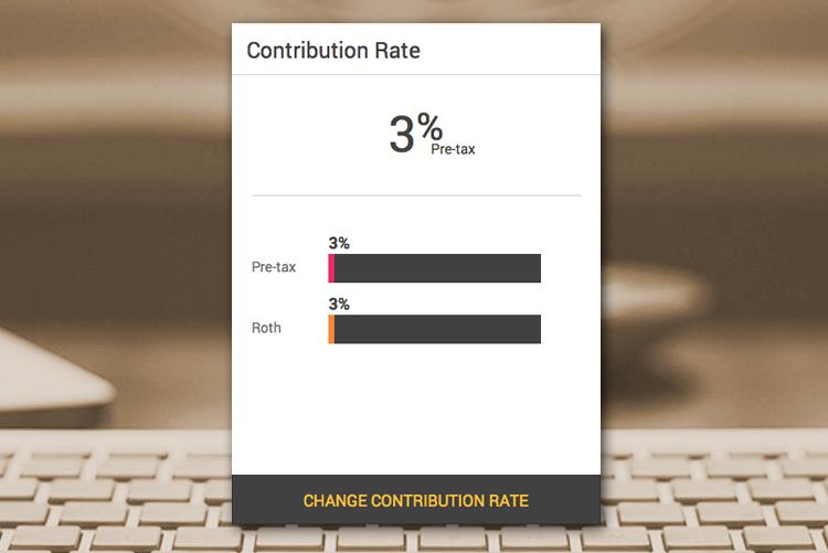 We record keep all of your employees' contribution rates, and even given them the ability to make changes online.